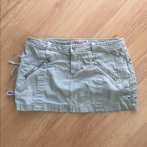 Guess jeans beige khaki mini skirt size 28